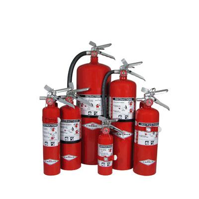 Amerex 408 brass valve regular dry chemical stored pressure sodium bicarbonate extinguisher