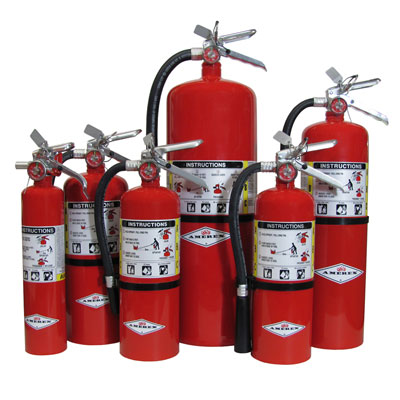 Amerex B441 brass valve stored pressure dry chemical extinguisher