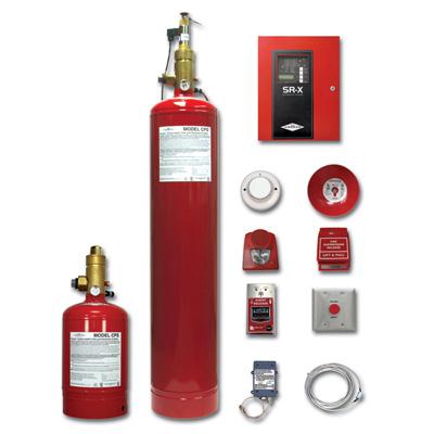Amerex FM-200 pre-engineered clean agent system