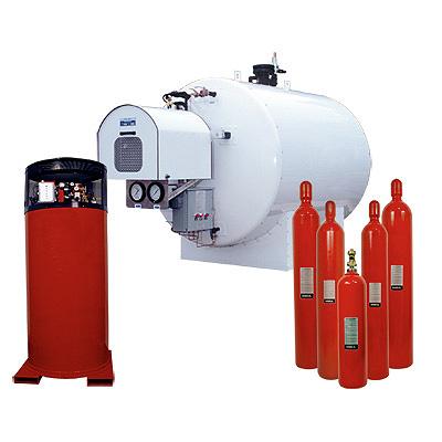 Ansul CO2 low pressure carbon dioxide bulk fire suppression system