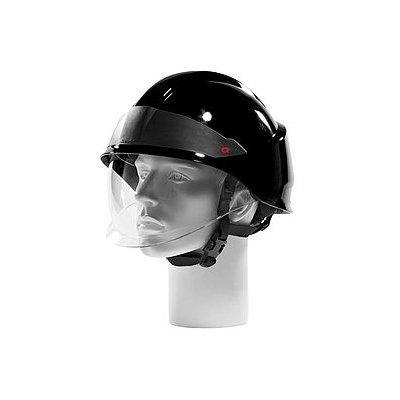 Rosenbauer 157005 HEROS-smart Black Firefighting Helmet