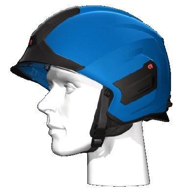 Rosenbauer 157304 light-weight HEROS-titan blue firefighting helmet
