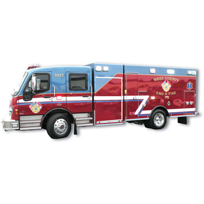 Braun Industries Inc. Patriot Spartan MetroStar medium duty ambulance