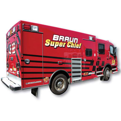 Braun Industries Inc. Super Chief DuraStar rugge heavy duty ambulance