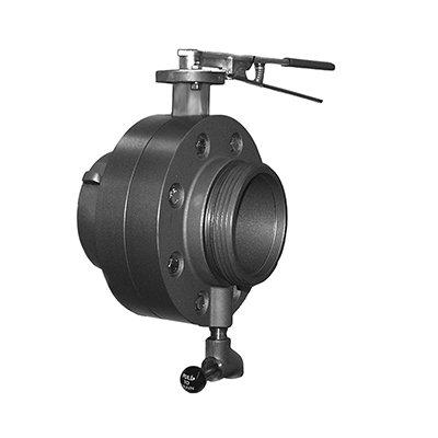 South park corporation BV7855AH BV78, 5 NS Rockerlug Swivel X 5 NS Male 5 Butterfly Valve Hard Coated,with Chrome Plated Lever Handle