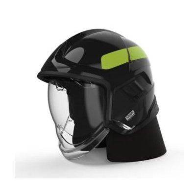 MSA GYM1018500000-NA16 Cairns XF1 Fire Helmet, Medium, Black