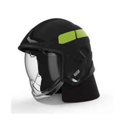MSA GYM1018500000-NE16 Cairns XF1 Fire Helmet, Medium, Matte Black