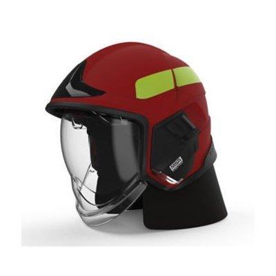 MSA GYM1118500000-RD16 Cairns XF1, M, Red, Matte, Clear Face Shield, Internal Visor ANSI Z87, Black Ear Laps
