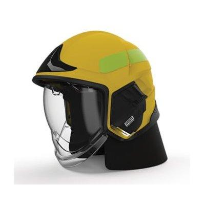 MSA GYL1018500000-JC16 Cairns XF1 Fire Helmet, Large, Matte Yellow