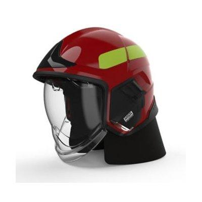 MSA GYM1018500000-RE16 Cairns XF1 Fire Helmet, Medium, Red