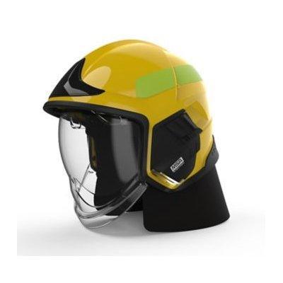 MSA GYL1118500000-JD16 Cairns XF1, L, Yellow, Glossy, Clear Face Shield, Internal Visor ANSI Z87, Black Ear Laps