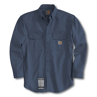 Carhartt FRS160 men's flame-resistant twill shirt with pocket flap