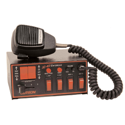 Carson SC-407 Enforcer warning siren, 100/200-watt amplifier