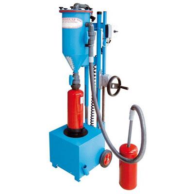 Cervinka PFF-FLIPP-EK filling and service machine for fire extinguisher