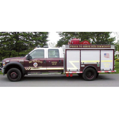 CET Fire Pumps Brush Truck 12 ford cab and chassis