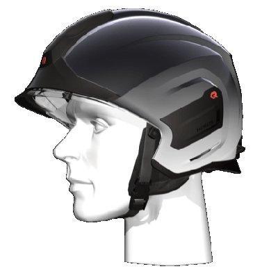 Rosenbauer 157311 Light-weight HEROS-titan Chrome Firefighting Helmet