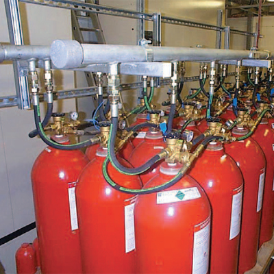 Chubb Argonitefixed fire suppression system