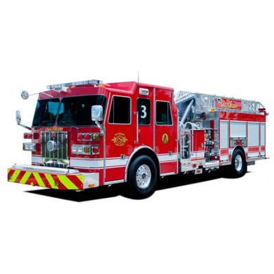 Custom Fire Apparatus, Inc. SL75 mid-mount aerial ladder