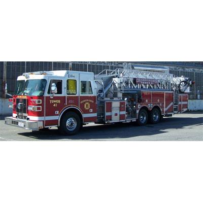 Custom Fire Apparatus, Inc. SPH100 mid-mount aerial platform