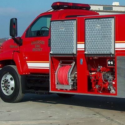 Danko Emergency Equipment T-163 wetside polytanker