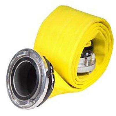 "Kochek DJP4072-1 4"" Storz x 4"" Storz DJP Synthetic LDH-Treated Yellow 25'"