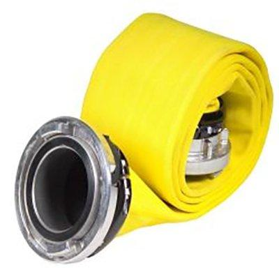 "Kochek DJP4071-1 4"" Storz x 4"" Storz DJP Synthetic LDH-Treated Yellow 50'"