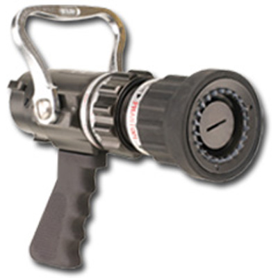 Elkhart Brass PSFS-HP nozzle with aluminum/bronze shut-off