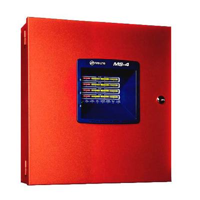 Fire Lite Alarms (Honeywell) MS-4 fire alarm control panel