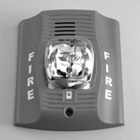 Fire Lite Alarms (Honeywell) P4WH 4-wire white wall horn/strobe