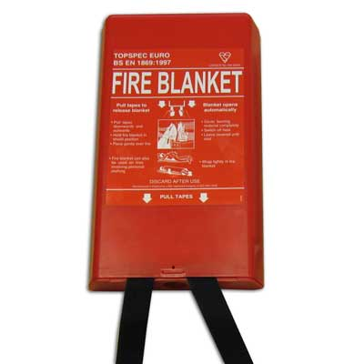 Fireblitz Extinguisher Ltd FBB160-HP  red hard plastic fire blanket