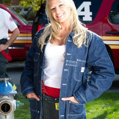 Firemans Chore FCCC-114 PR pre-rinsed denim jacket