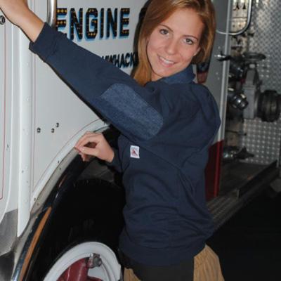 Firemans Chore FCJS-111 job shirt with denim collar