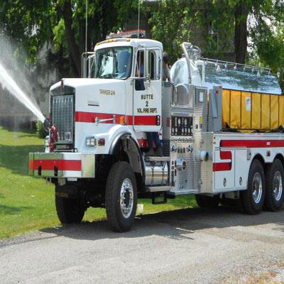 Firovac Pump and Roll firefighting vehicle