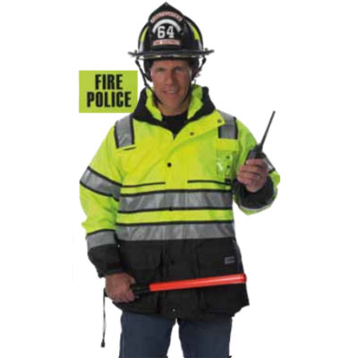 Fyrepel Fire Police Parka reflective safety clothing