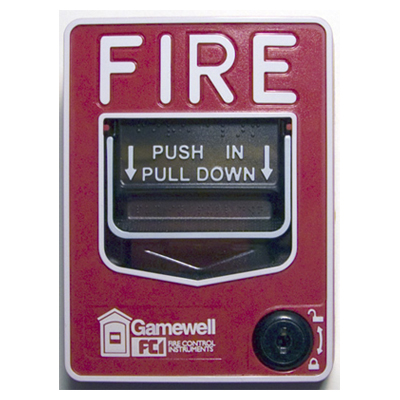 Gamewell-FCI M46-DL fire alarm pull station