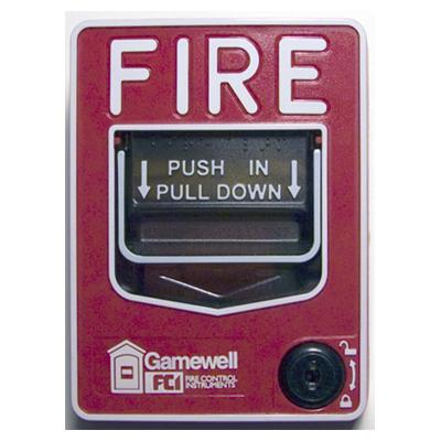 Gamewell-FCI M46-OLB fire alarm pull station