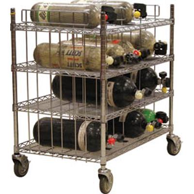 Groves MBR-24 six shelf level mobile bottle cart