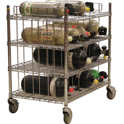 Groves MBR-42 seven shelf levels mobile bottle cart