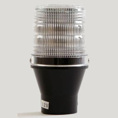 Haztec 3-3345-12 LED impact beacon with pole mount base, dual colour, 12V