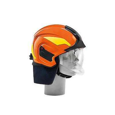 Rosenbauer 157381 HEROS-titan Pro High-visibility Red Structural Fire Fighting Helmet