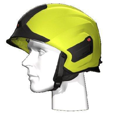 Rosenbauer 157312 light-weight HEROS-titan high-visibility yellow firefighting helmet