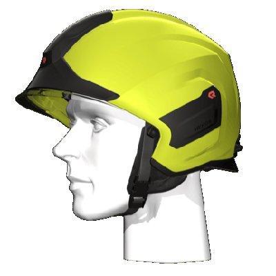 Rosenbauer 157309 Light-weight HEROS-titan Yellow Firefighting Helmet