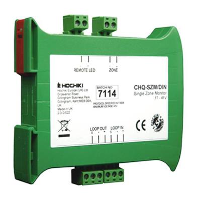 Hochiki Europe CHQ-SZM2/DIN(SCI) Single Zone Monitor - DIN Enclosure with SCI