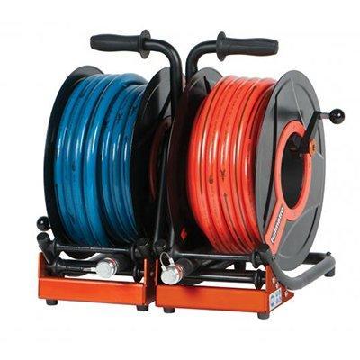 Holmatro Double Hose Reel HR 5515 OB Double hose reel, CORE version, with 15 m hose on each side: 1 x orange, 1 x blue.