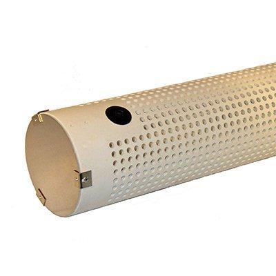 Kochek HS62 6 HORZ PVC STRN W/BACK FLUSH COVER (HOLES UP) (HS62)