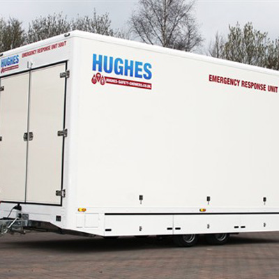 Hughes Safety Showers Ltd Trailer 500/T is a emergency response trailer