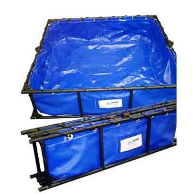 Husky Portable Containment Aluminum Frame Decontamination Pools