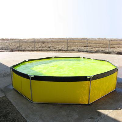 Husky Portable Containment ATII-3000 aqua tank with rigid frame and portability