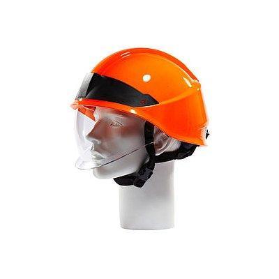Rosenbauer 157001 HEROS-smart High Visibility Red Firefighting Helmet
