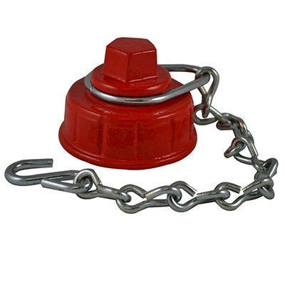 South park corporation HCC7308MI HCC73, 2.5 Customer Thread F Hydrant Cap with Chain Painted